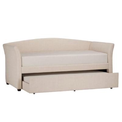 Varela Oatmeal Trundle Day Bed