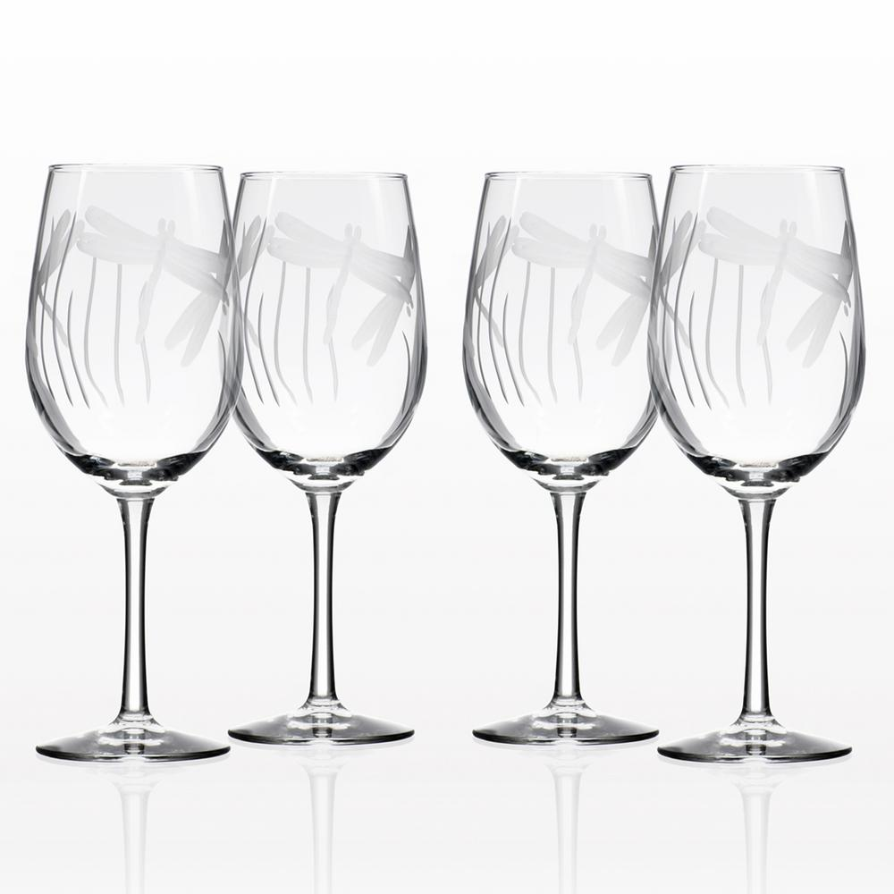 8926dccd70e Rolf Glass Dragonfly 12 oz. Clear White Wine Glass (Set of 4) 206424 ...