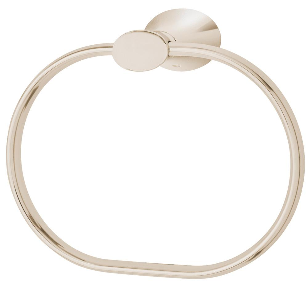 Caspian Towel Ring in Polished Nickel