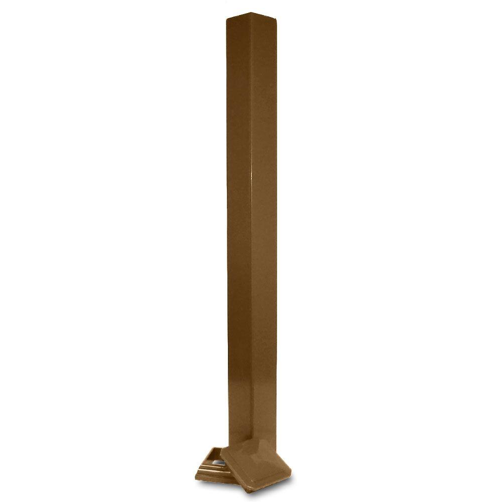 Veranda 4 in. x 4 in. Bronze PVC Composite Post Sleeve Kit with Cap and Base Moulding