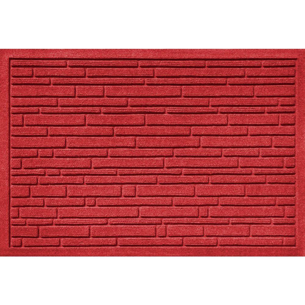 Aqua Shield Broken Brick Red 17.5 in. x 26.5 in. Door