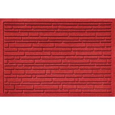 Aqua Shield Broken Brick Red 17.5 in. x 26.5 in. Door Mat