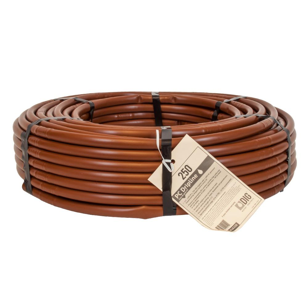 1/2 in. x 250 ft. 1-GPH Pressure Compensating Emitter Tubing with