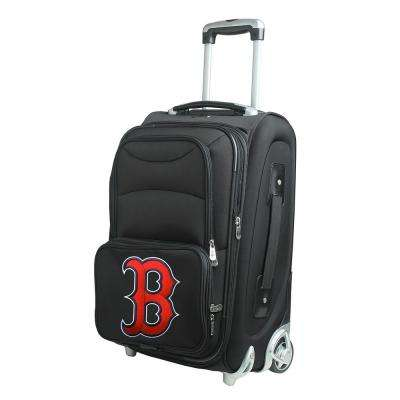 MLB Boston Red Sox  21 in. Black Carry-On Rolling Softside Suitcase