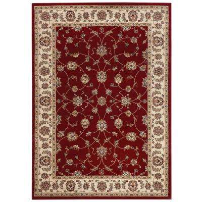 Claire Red 4 ft. x 6 ft. Area Rug