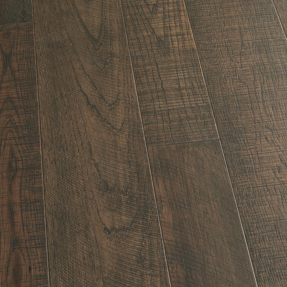 Take Home Sample - Hickory Carmel Engineered Click Lock Hardwood Flooring - 5 in. x 7 in.