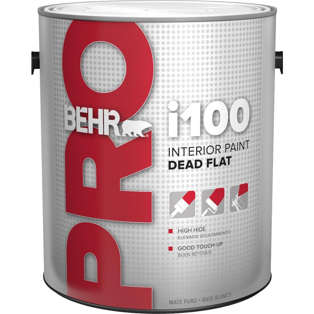 Lovely BEHR PRO 1 Gal. I100 White Flat Interior Paint