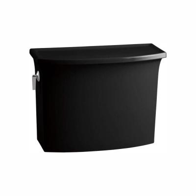 Archer 1.28 GPF Single Flush Toilet Tank Only with AquaPiston Flushing Technology in Black Black