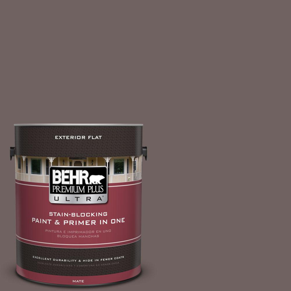 1-gal. #N140-6 Wright Brown Flat Exterior Paint
