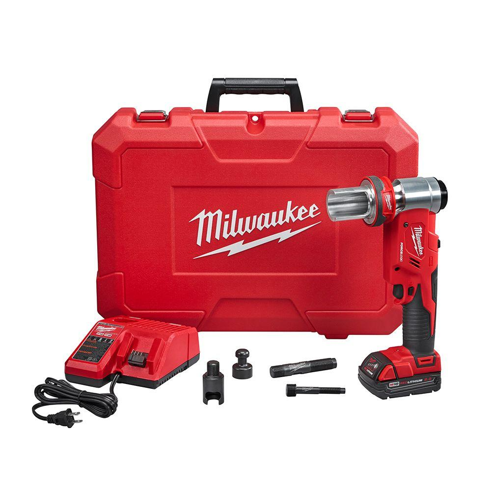 Milwaukee M18 18-Volt Lithium-Ion Cordless FORCE LOGIC 6 Ton Knockout Tool 1