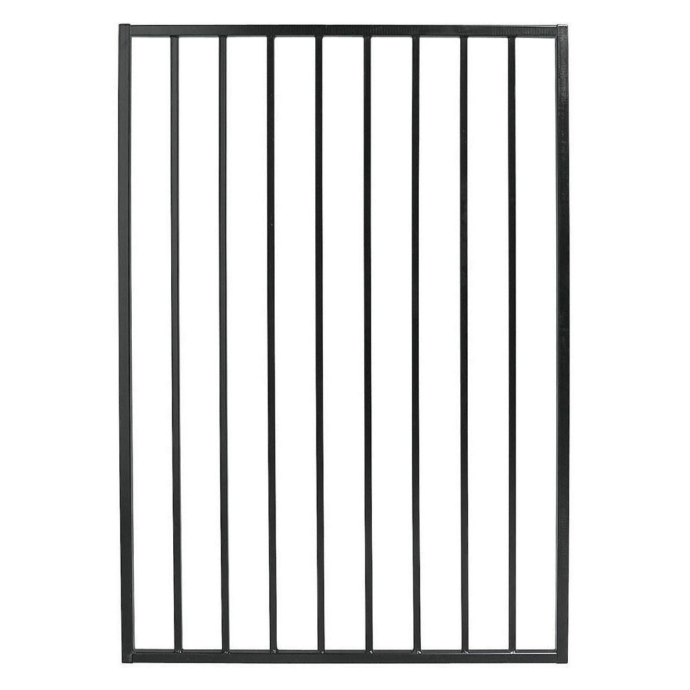 Pro Series 3.25 ft. x 4.8 ft. Black Steel Fence Gate