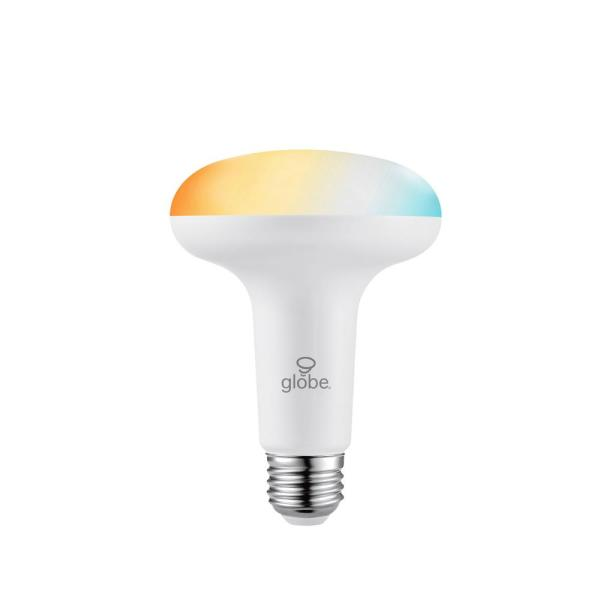 Globe Electric 65 Watt Equivalent Br30 Dimmable Selectable Color Temperature Duobright Technology Led Light Bulb 5000k 2000k 2 Pack 33132 The Home Depot