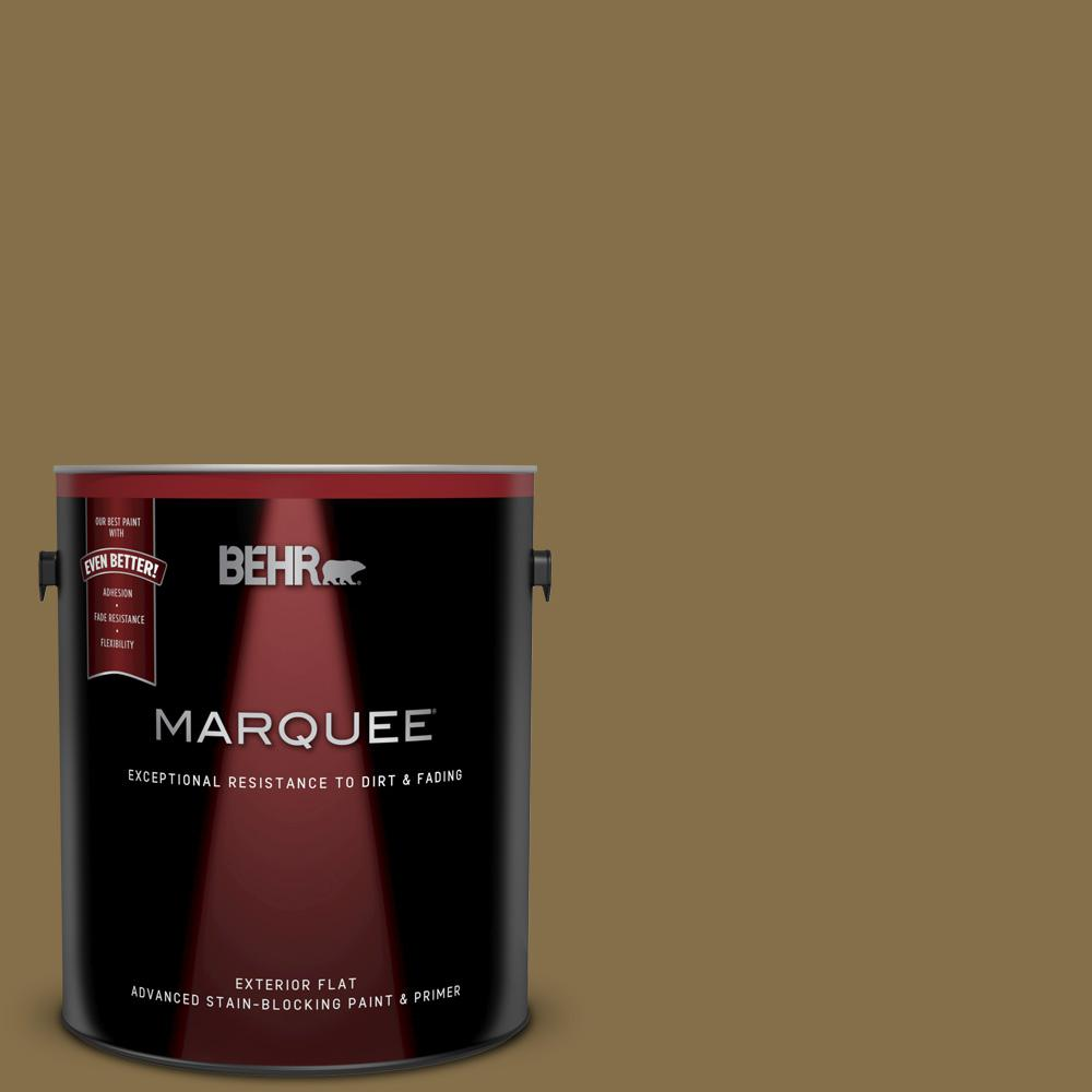 Behr Marquee 1 Gal 350f 7 Wild Mushroom Flat Exterior Paint And
