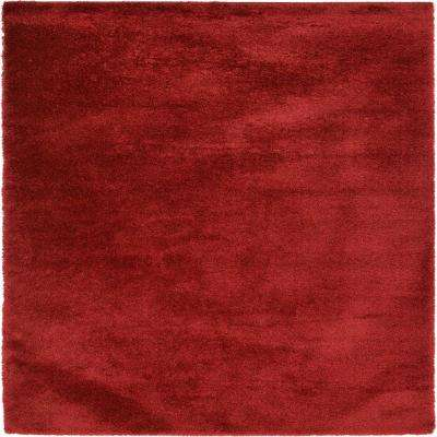 Luxe Solo Red 9' x 12' Rug