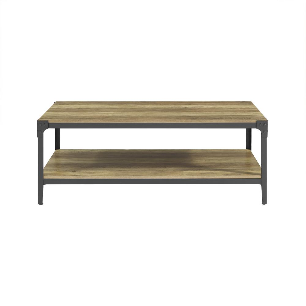 walker edison furniture company angle iron rustic wood coffee table rustic oak. walker edison furniture company angle iron rustic wood coffee