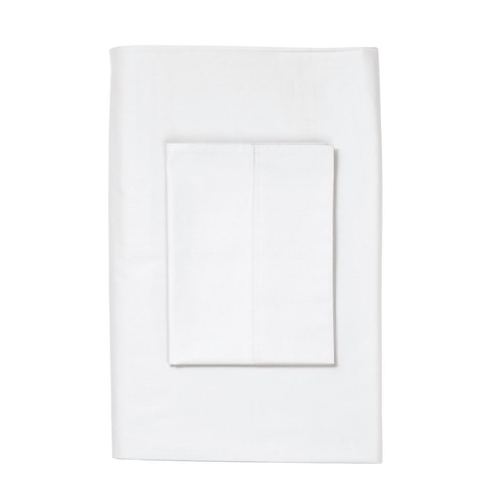 The Company Store Legends Luxury White Supima Sateen King Pillowcase (Set