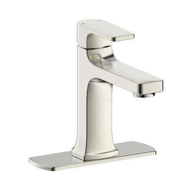 Chatelet Single-Handle 1 or 3 Hole 4 in centerset Bathroom Faucet in Brushed Nickel