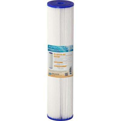 Whole House 4.5 in. x 20 in. 30 Micron Reusable and Pleated Sediment Filter