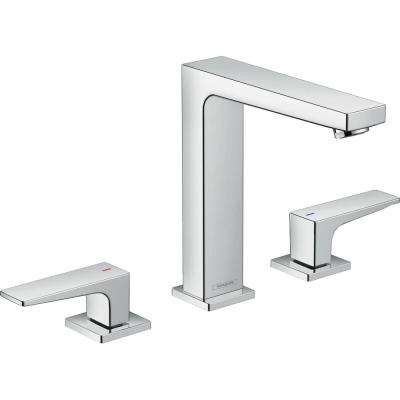 Hansgrohe Metropol 8 In Widespread 2 Handle Bathroom Faucet In Chrome 74518001 The Home Depot