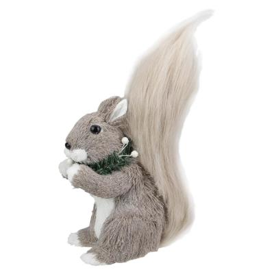 10.25 in. Standing Squirrel with Neck Wreath Christmas Figure