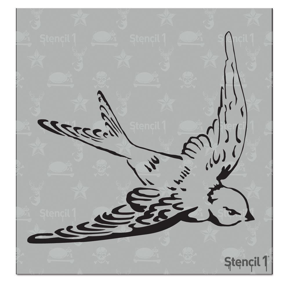 Stencil1 Swallow Small Stencil S10101s The Home Depot