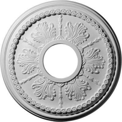 13-7/8 in. x 3-3/4 in. I.D. x 1-1/4 in. Tirana Urethane Ceiling Medallion (Fits Canopies upto 4-3/4 in.)