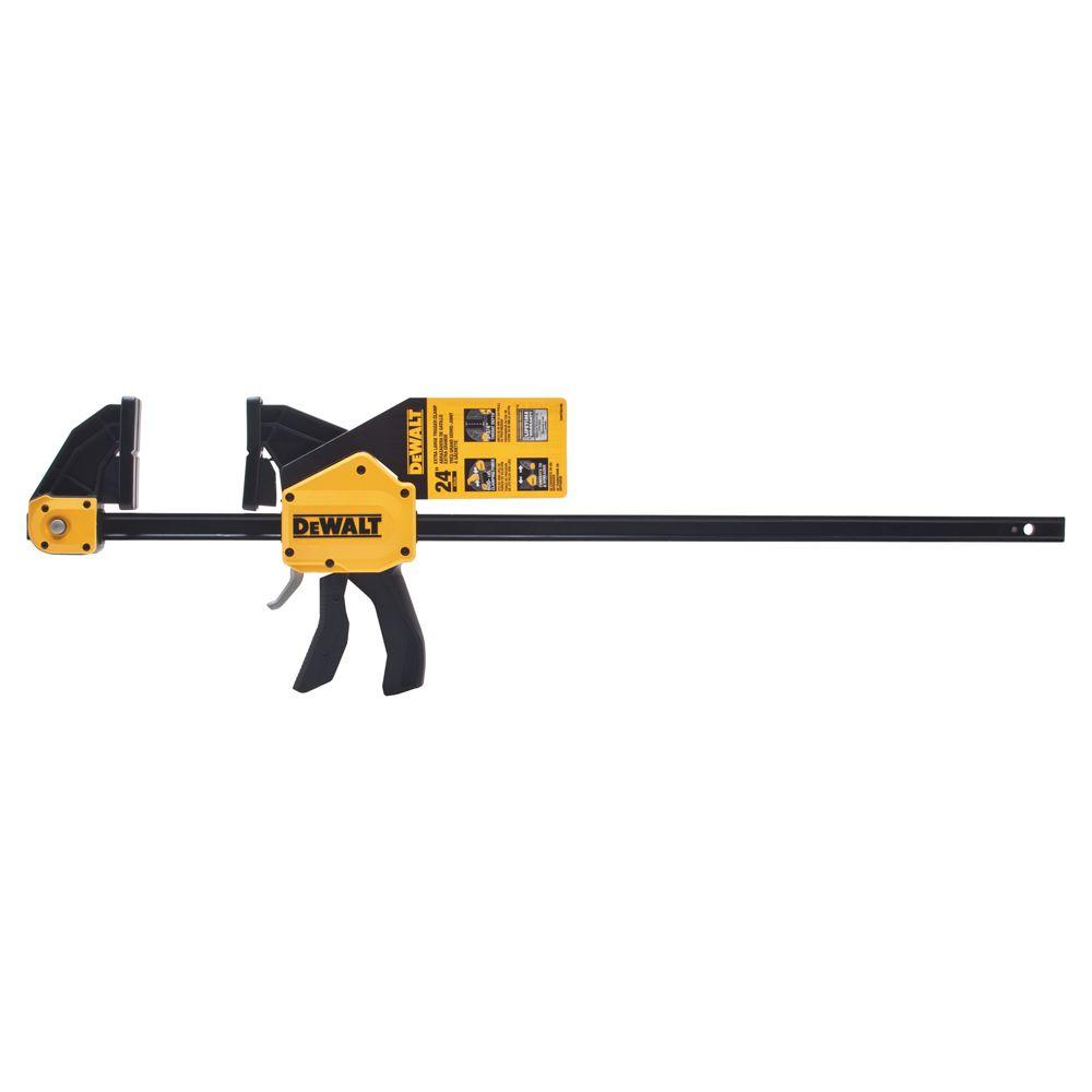 DEWALT 24 in. 600 lbs. Trigger Clamp with 3.75 in. Throat Depth