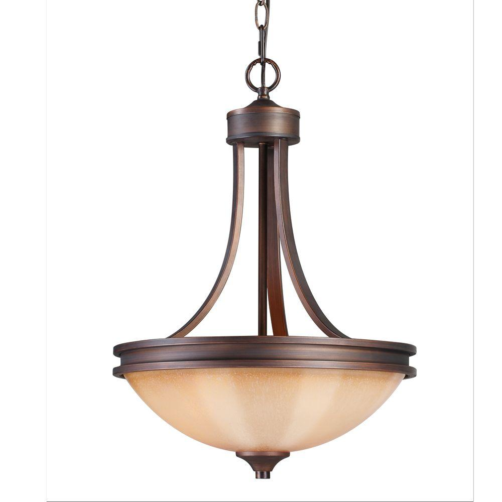 null Holborn Collection 3-Light Sovereign Bronze Pendant