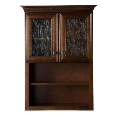 Templin 28 in. W x 38-1/5 in. H x 9-11/25 in. D Bathroom Storage Wall Cabinet in Coffee