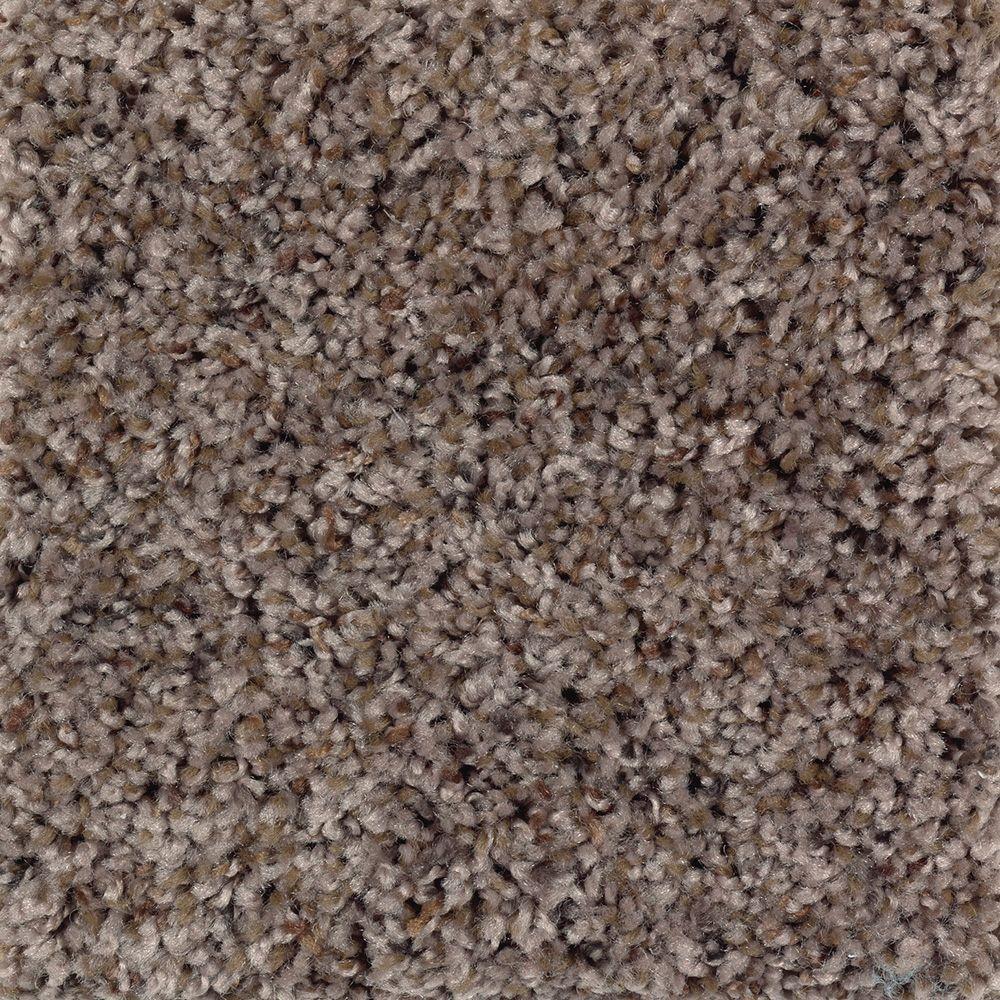 Rapid Install Timberwolf I Color Teak Texture 12 Ft Carpet