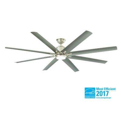 Kensgrove 72 in. Integrated LED Indoor/Outdoor Brushed Nickel Ceiling Fan with Light Kit and Remote Control