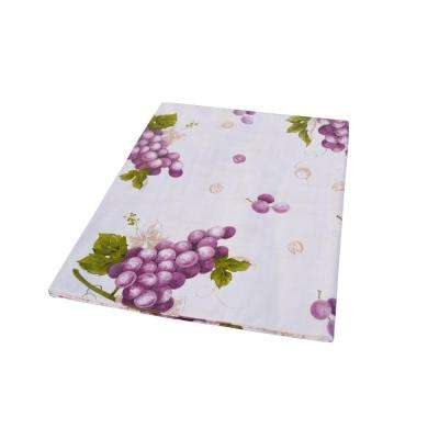 55 in. x 70 in. Indoor and Outdoor Grape Vine Design Tablecloth for Dining Table