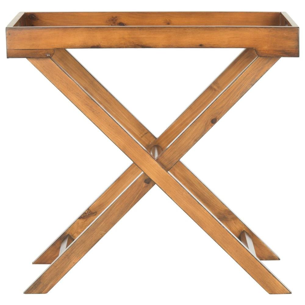 Leo Filbert Brown Tray Side Table