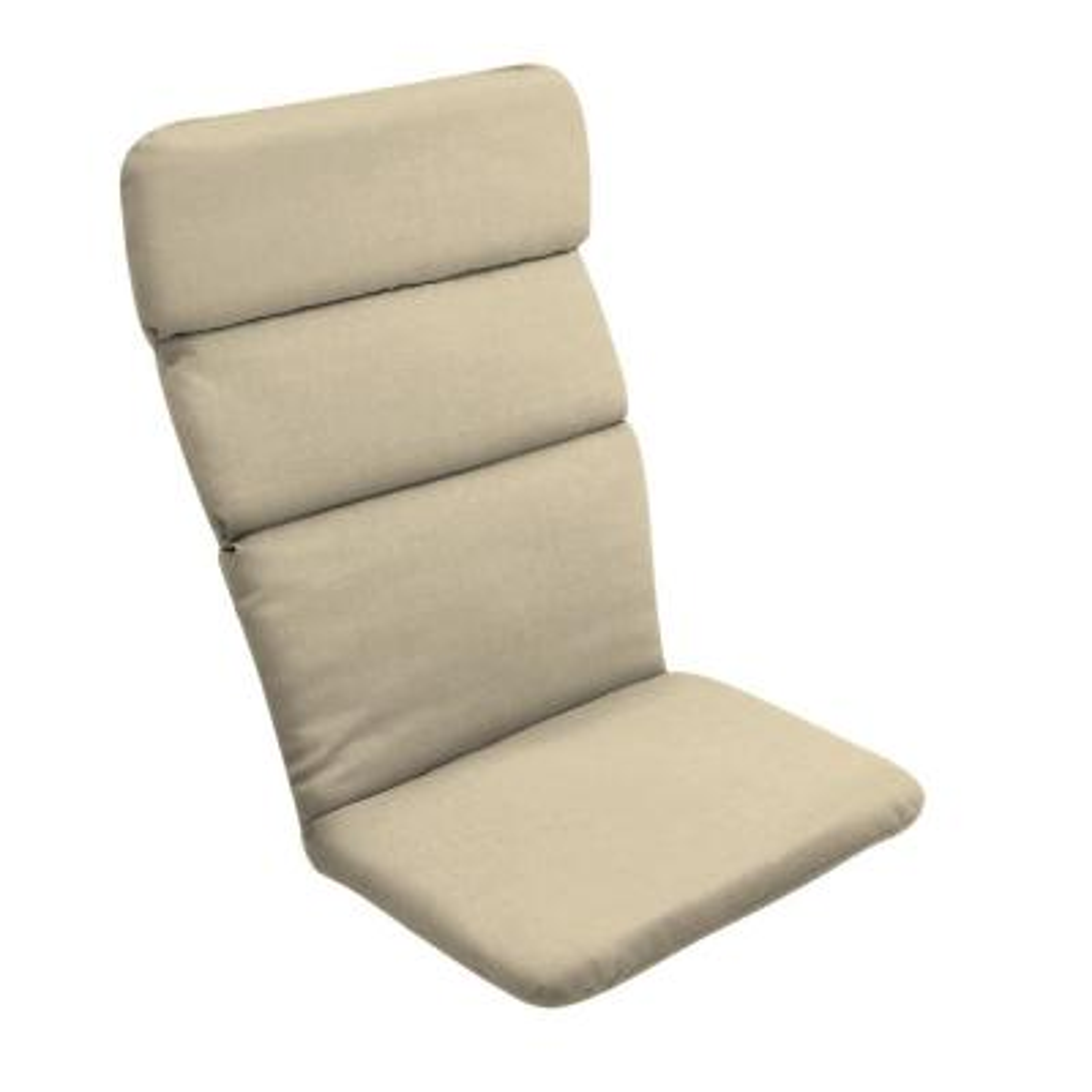 20 x 45.5 New Tan Leala Texture Outdoor Adirondack Chair Cushion
