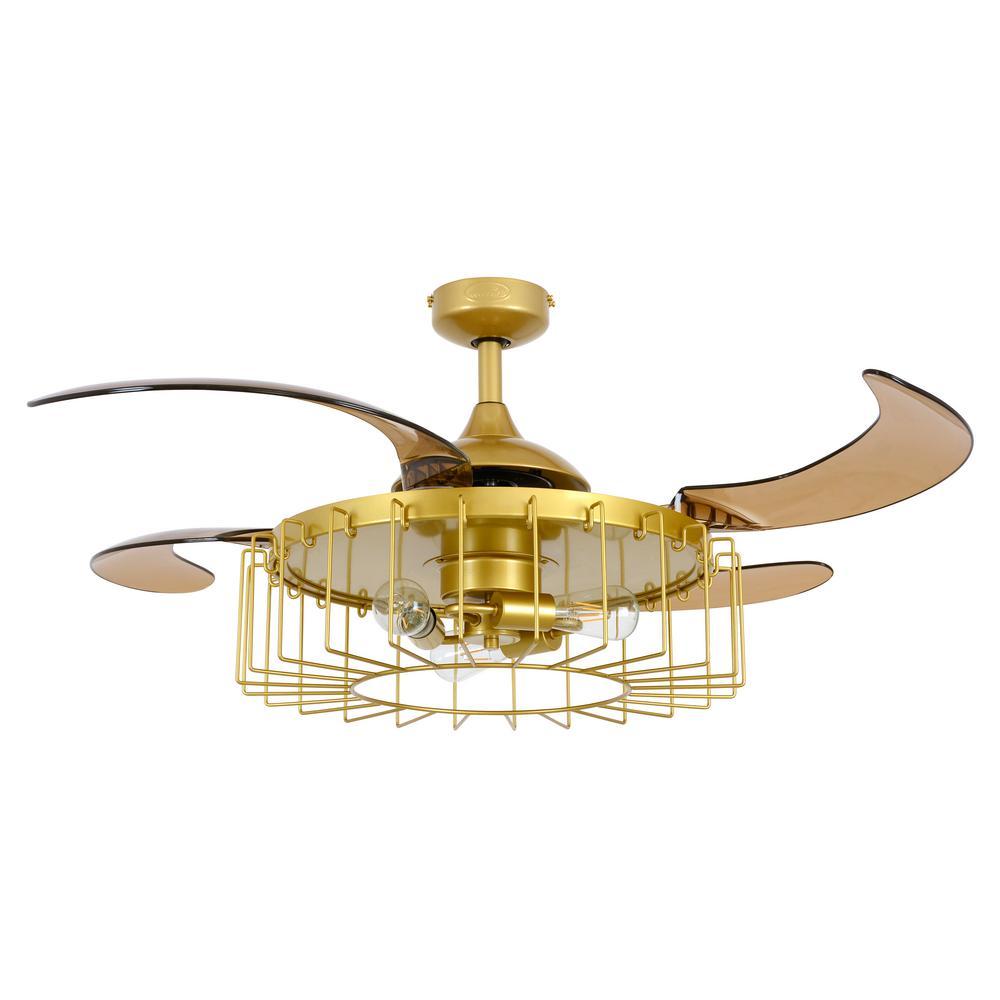 Fanaway Sheridan 48 in. Antique Gold Ceiling Fan with Light