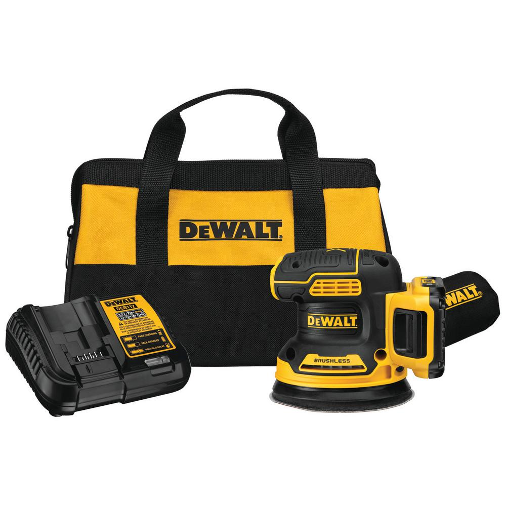 DEWALT 20-Volt Max Lithium-Ion Cordless Brushless 5 in. Random Orbit Sander Kit with Battery 2.0 Ah, Charger and Bag was $199.0 now $119.0 (40.0% off)