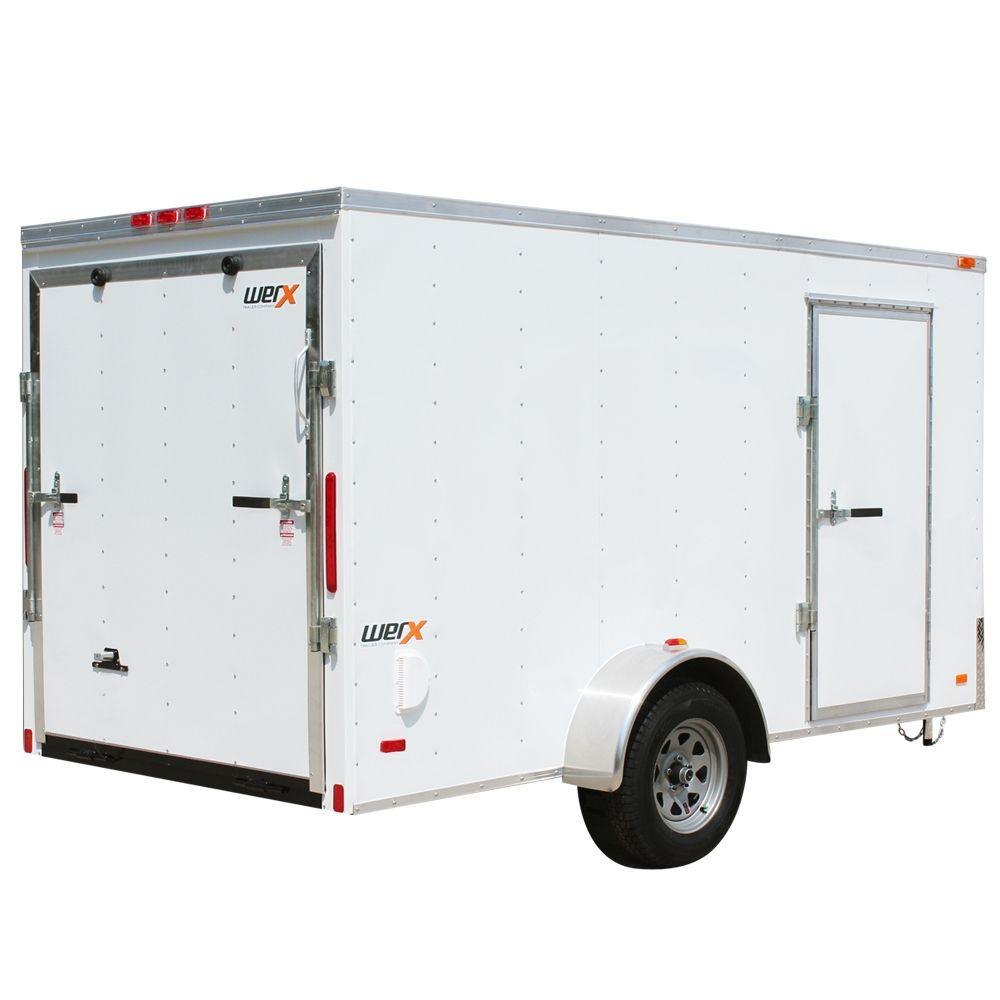 Utility Trailers: WERX 1868 Lb. Enclosed Cargo Trailer-WX612