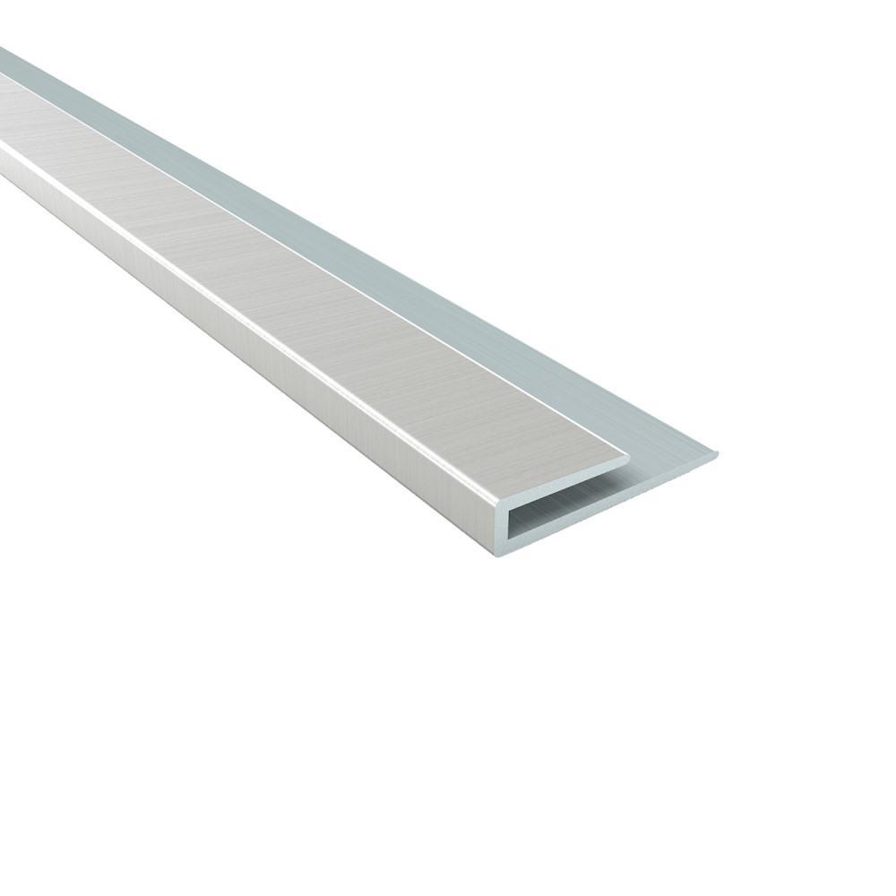4 ft. Brushed Nickel Large Profile J-Trim