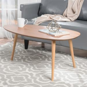 Noble House-Maddox Natural Wood Coffee Table