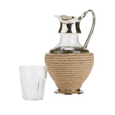 128 oz. Clear Rope and Glass Water Pitcher