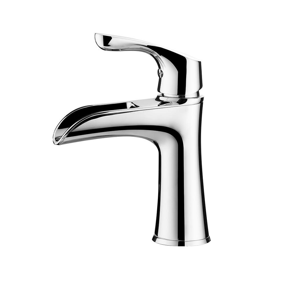 Althea Single Hole Single-Handle Bathroom Faucet in Polished Chrome