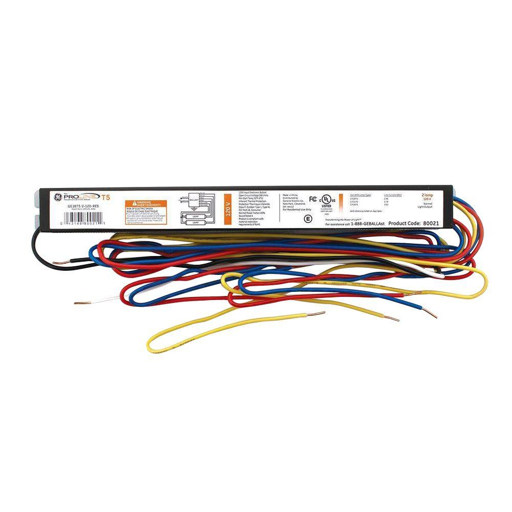 ge replacement ballasts ge28t5 2 120 res 64_1000 ge 3 ft and 4 ft 2 lamp t5 120 volt residential electronic t5 ballast wiring diagram at eliteediting.co