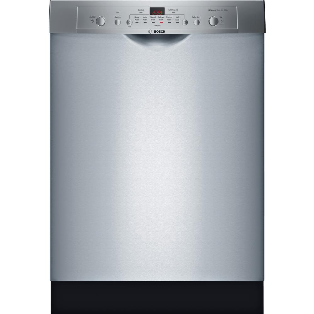 Bosch Ascenta Series Front Control Tall Tub Dishwasher In Stainless Steel With Hybrid 50 Dba