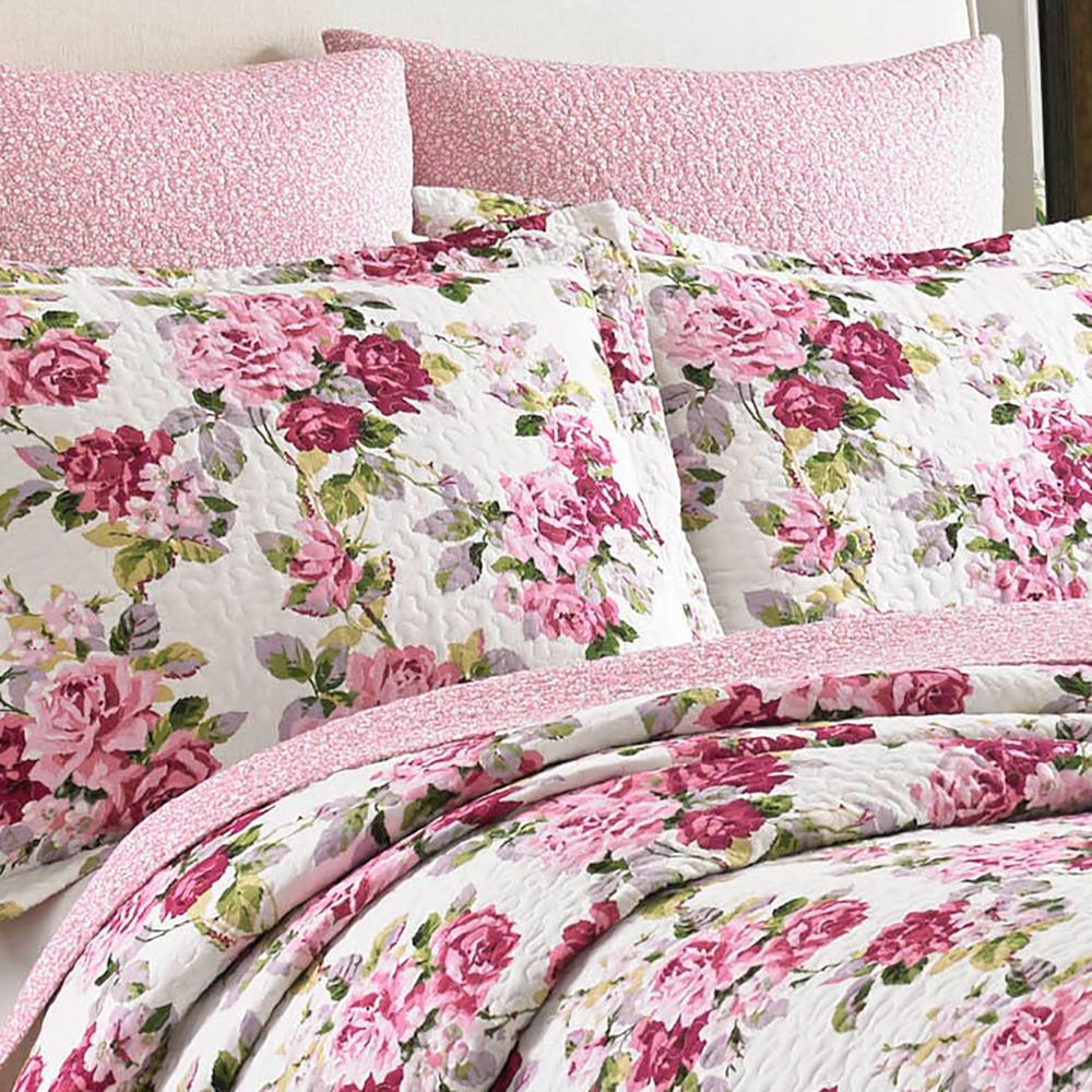 Lidia Floral Cotton Quilt Set