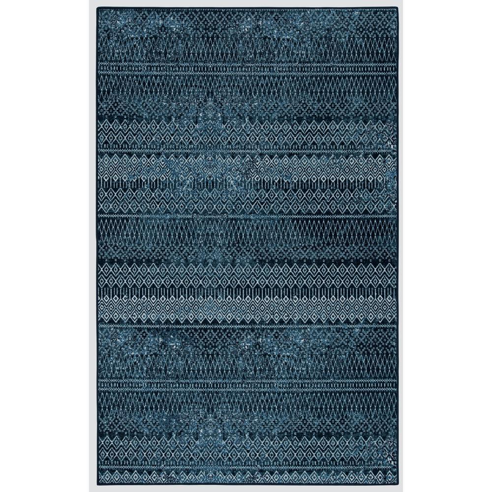 Mohawk Home Prale Denim 8 ft. x 10 ft. Denim Blue Geometric Area Rug