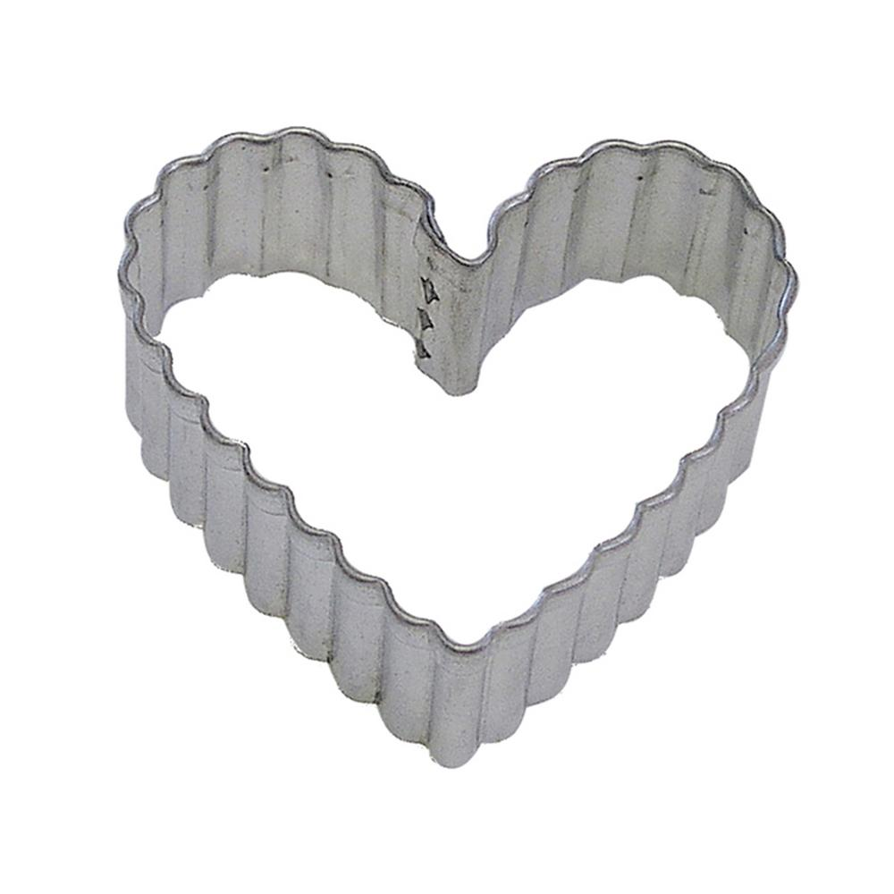 775badb93315 CybrTrayd 12-Piece Fluted Heart 3.5 in. Tinplated Steel Cookie Cutter    Recipe-RM-0892-12LOT - The Home Depot