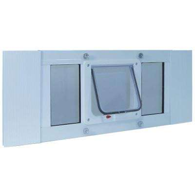 6.25 in. x 6.25 in. Small Cat Flap Frame Door for Installation into 27 in. to 32 in. Wide Sash Window