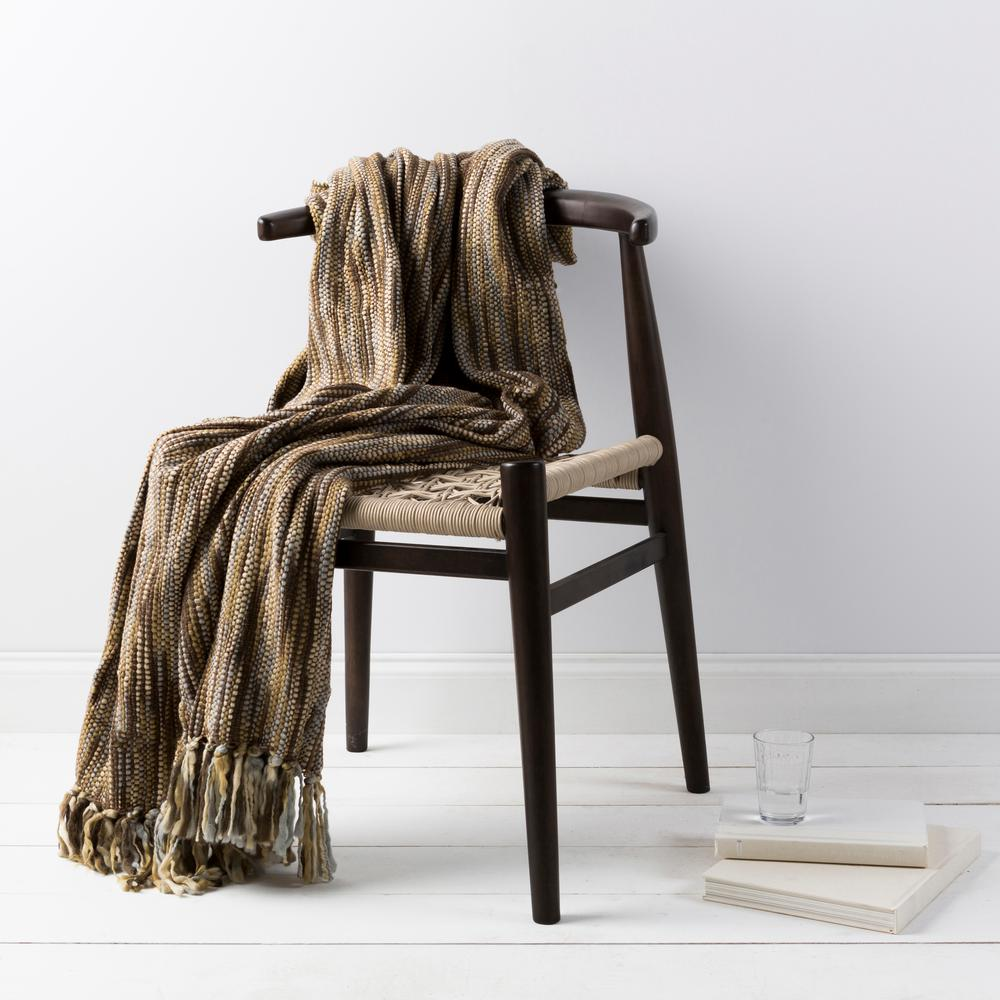 Hollyn Taupe Acrylic Throw
