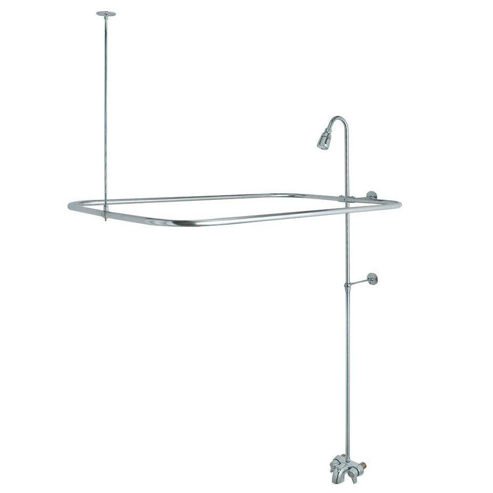 DANCO Add-A-Shower Kit for Clawfoot Tub in Chrome