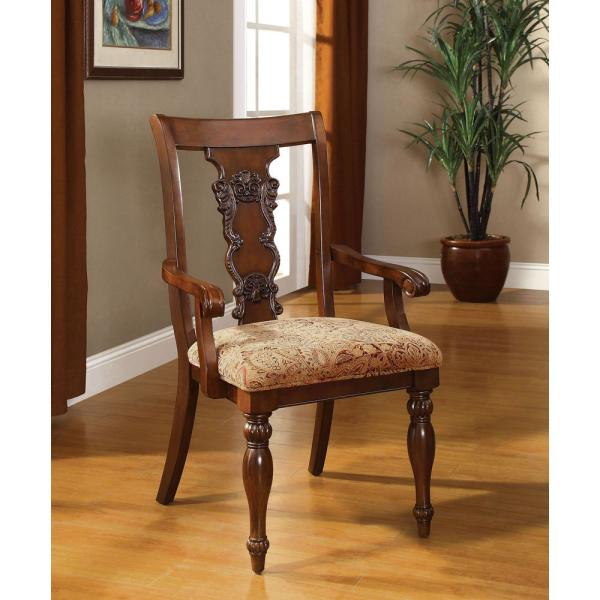 undefined Seymour Dark Oak Traditional Style Arm Chair